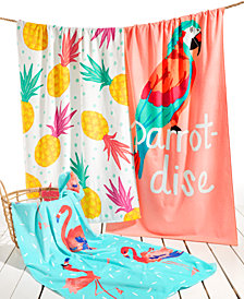 Martha Stewart Collection Printed Beach Towels Collection, Created for Macy's