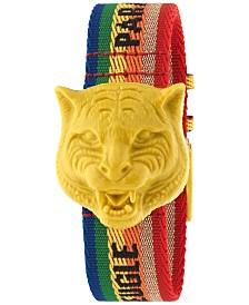 Gucci Women's Swiss Le Marché Des Merveilles Rainbow Nylon Strap Watch 32mm