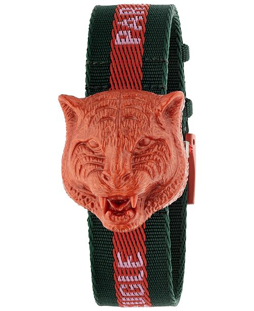32e3ac33709 ... Watch 32mm  Gucci Women s Swiss Le March eacute  Des Merveilles Green    Red Nylon ...