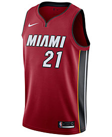 Nike Men's Hassan Whiteside Miami Heat Statement Swingman Jersey