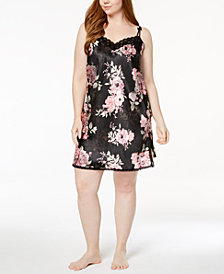 Thalia Sodi Plus Size Printed Chemise, Created for Macy's