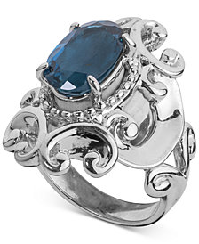 Carolyn Pollack London Blue Topaz Filigree Statement Ring (3-1/3 ct. t.w.) in Sterling Silver