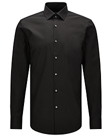 BOSS Men's Slim-Fit Easy-Iron Cotton Dress Shirt