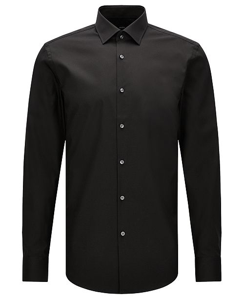 ecbdec68 Hugo Boss BOSS Men's Slim-Fit Easy-Iron Cotton Dress Shirt & Reviews ...