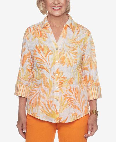 Alfred Dunner Still My Sunshine Printed Shirt