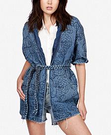 Lucky Brand Quilted Denim Kimono Jacket