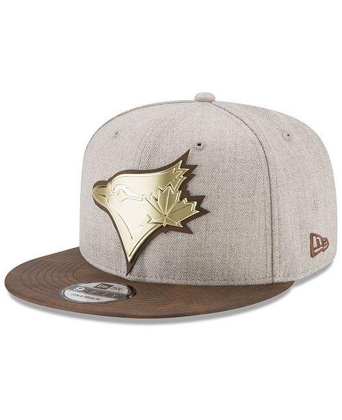 e477ab85f1a New Era Toronto Blue Jays Oatmeal O Gold 9FIFTY Snapback Cap ...