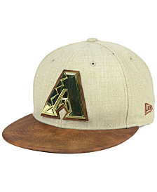 New Era Arizona Diamondbacks Oatmeal O'Gold 9FIFTY Snapback Cap