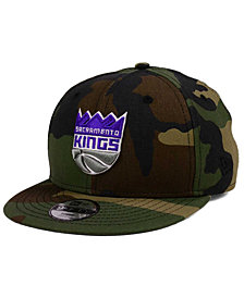 New Era Boys' Sacramento Kings Woodland Team 9FIFTY Snapback Cap