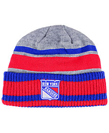 adidas New York Rangers Heathered Grey Beanie