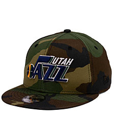 New Era Boys' Utah Jazz Woodland Team 9FIFTY Snapback Cap