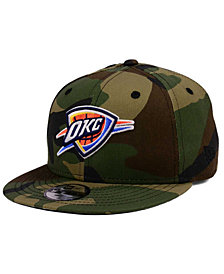New Era Boys' Oklahoma City Thunder Woodland Team 9FIFTY Snapback Cap