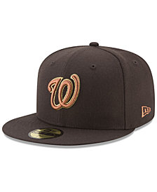 New Era Washington Nationals Brown on Metallic 59FIFTY Fitted Cap