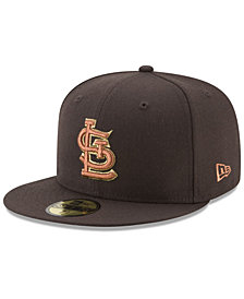 New Era St. Louis Cardinals Brown on Metallic 59FIFTY Fitted Cap