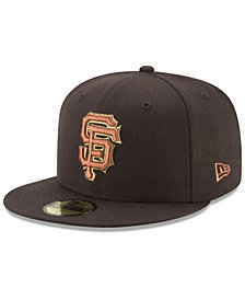 New Era San Francisco Giants Brown on Metallic 59FIFTY Fitted Cap