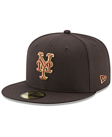 New Era New York Mets Brown on Metallic 59FIFTY Fitted Cap