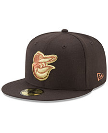 New Era Baltimore Orioles Brown on Metallic 59FIFTY Fitted Cap