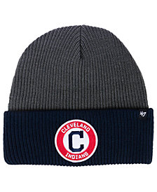 '47 Brand Cleveland Indians Ice Block Cuff Knit Hat