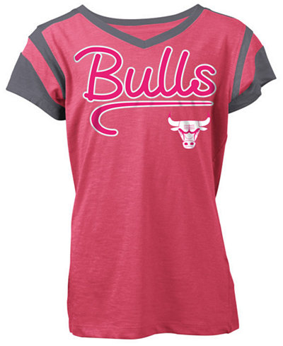5th & Ocean Chicago Bulls Contrast Slub T-Shirt, Girls (4-16)