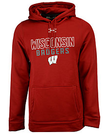 Under Armour Men's Wisconsin Badgers Speedy Armour Fleece Hoodie
