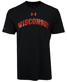 Under Armour Men's Wisconsin Badgers Lead Block Charged T-Shirt