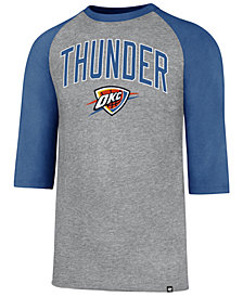 '47 Brand Men's Oklahoma City Thunder Zone Raglan Three-Quarter Sleeve T-Shirt
