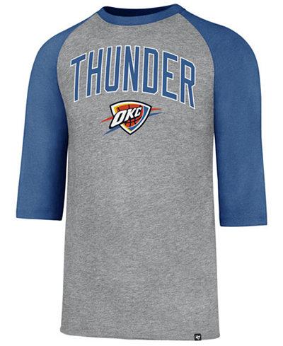 '47 Brand Men's Oklahoma City Thunder Zone Raglan Three-Quarter Sleeve T-Shirt