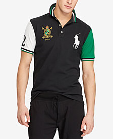 Polo Ralph Lauren Men's Big Pony Custom Slim Fit Mesh Polo