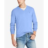 Polo Ralph Lauren Men's V-Neck Sweater (Nantucket Blue Heather)
