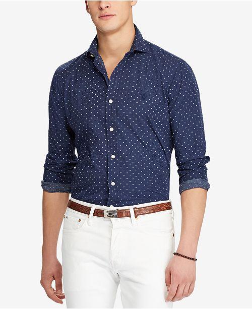 f6428e512fa25 Polo Ralph Lauren Men s Slim-Fit Shirt   Reviews - Casual Button ...