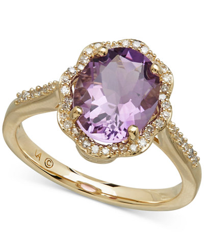 Amethyst (2-2/5 ct. t.w.) & Diamond (1/6 ct. t.w.) Ring in 10k Gold