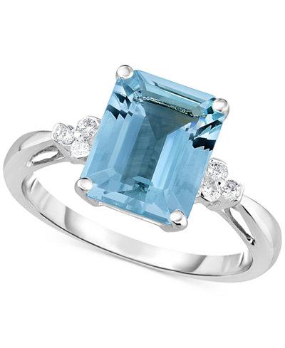 Aquamarine (2-3/4 ct. t.w.) & Diamond Accent Ring in 14k White Gold