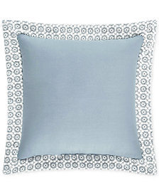 "Piper & Wright Ansonia Indigo 16"" Square Decorative Pillow"