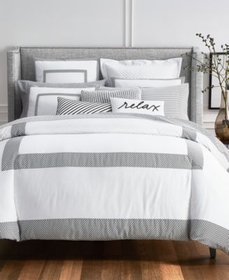 Charter Club Damask Designs Colorblock Bedding Collection, Created For  Macyu0027s