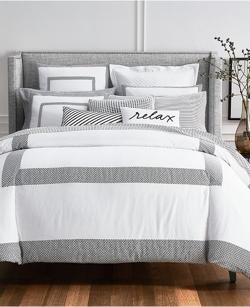 Charter Club Colorblock Black Bedding Collection, Created for Macy's