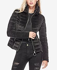 GUESS Teoma Velvet Puffer Jacket