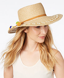 Nine West Patterned Woven Bolero Hat