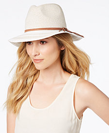 I.N.C. Striped-Brim Panama Hat, Created for Macy's
