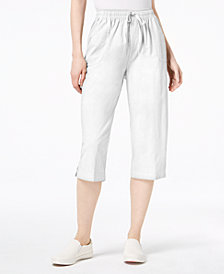 Karen Scott Cotton Drawstring Capri Pants, Created for Macy's