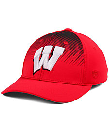 Top of the World Wisconsin Badgers Fallin Stretch Cap