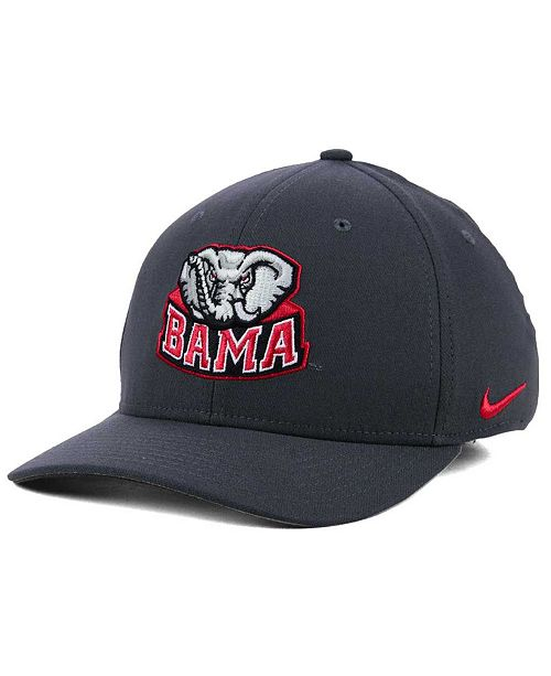 bde4aecbe2a11 Nike Alabama Crimson Tide Anthracite Classic Swoosh Cap   Reviews ...