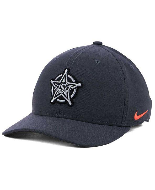 Nike Oklahoma State Cowboys Anthracite Classic Swoosh Cap