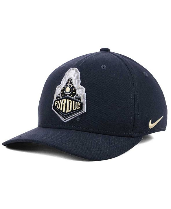 Nike Purdue Boilermakers Anthracite Classic Swoosh Cap