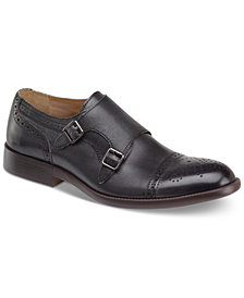 Johnston & Murphy Men's Fletcher Embossed Double Monk Cap-Toe Loafer