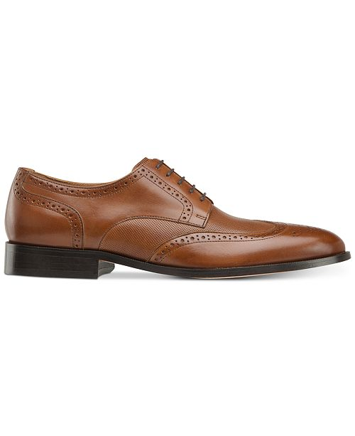Johnston & Murphy Men's Hernden Perforated Wingtip Lace-Up Oxfords Men's Shoes a0MfGa