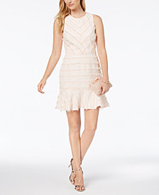 Adelyn Rae Eyelash Fringe A-Line Dress