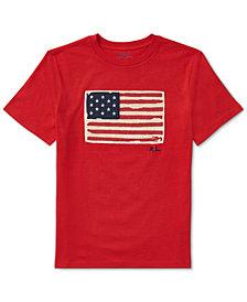 Ralph Lauren Graphic Cotton T-Shirt, Big Boys