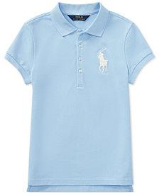 Ralph Lauren Embroidered Big Pony Polo, Big Girls