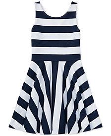 Ralph Lauren Ponté-Knit Fit & Flare Dress, Big Girls