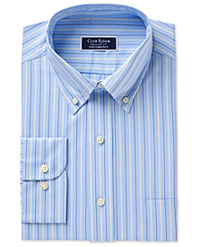 Club Room Men's Slim Fit Performance Pinpoint Double Stripe Dress Shirt, Created for Macy's